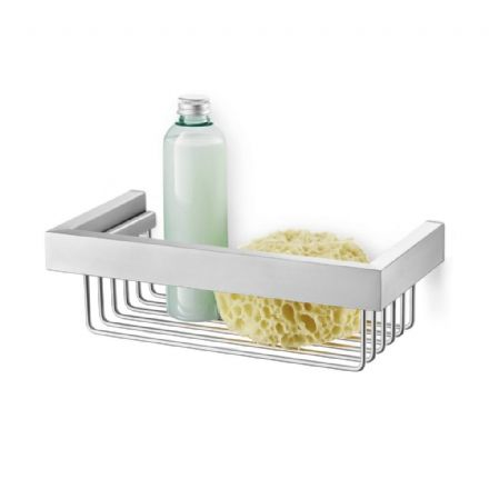 Zack Linea Polished Stainless Steel Shower Basket 40023